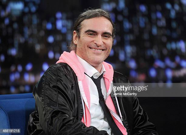 Joaquin Phoenix visits 'Late Night With Jimmy Fallon' at Rockefeller Center on December 9 2013 in New York City