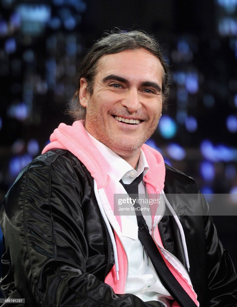 Joaquin Phoenix visits 'Late Night With Jimmy Fallon' at Rockefeller Center on December 9, 2013 in New York City.