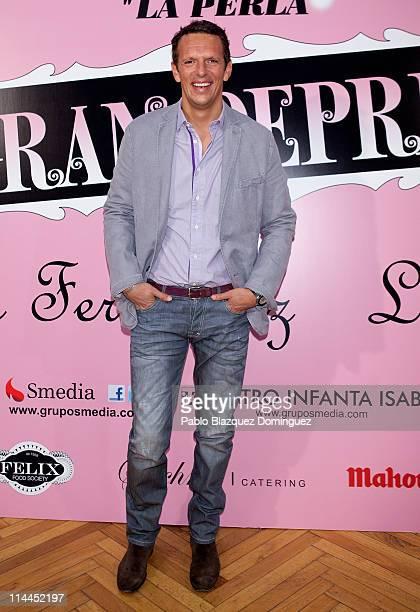 Joaquin Prat attends 'La Gran Depresion' premiere at Infanta Isabel Theatre on May 19 2011 in Madrid Spain