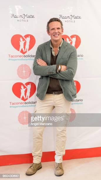 Joaquin Prat attends Taconeosolidario presentation from Querer foundation on April 23 2018 in Madrid Spain