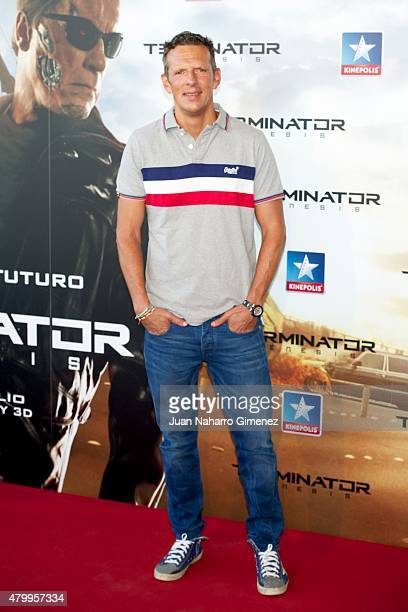 Joaquin Prat attends 'Terminator Genesis' premiere at Kinepolis Cinema on July 8 2015 in Madrid Spain