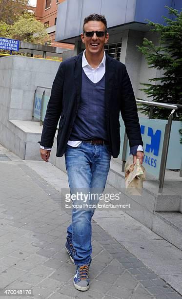 Joaquin Prat is seen visiting his son Joaquin Prat on April 16 2015 in Madrid Spain