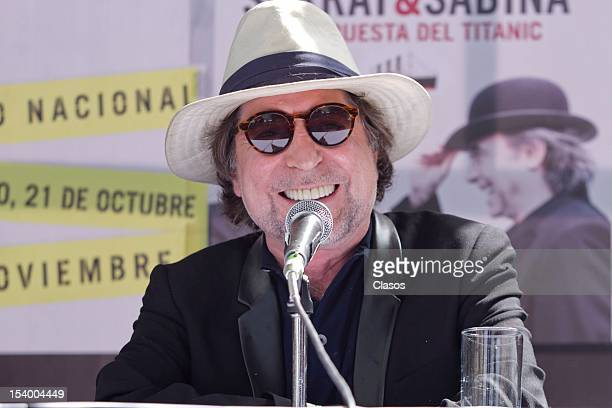 Joaquin Sabina smile during the press conference on October 11 2012 in Mexico City Mexico