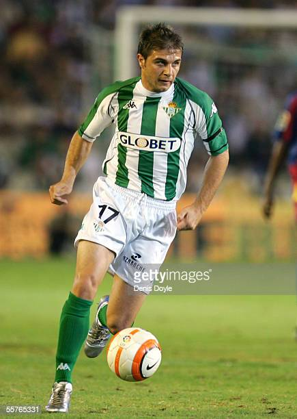 Joaquin Sanchez of Betis in action during a La Liga soccer match between Real Betis and FC Barcelona at the Ruiz de Lopera stadium on September 24 in...