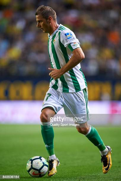 Joaquin Sanchez of Betis in action during the La Liga match between Villarreal CF and Real Betis at Estadio de la Ceramica on September 10 2017 in...