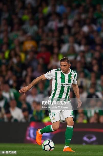 Joaquin Sanchez of Real Betis Balompie in action during the La Liga match between Real Betis and Las Palmas at Estadio Benito Villamarin on April 19...