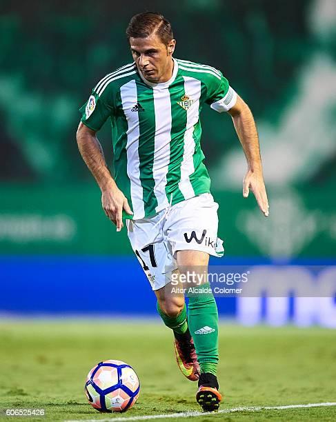 Joaquin Sanchez of Real Betis Balompie in action during the match between Real Betis Balompie vs Granada CF as part of La Liga at Benito Villamarin...