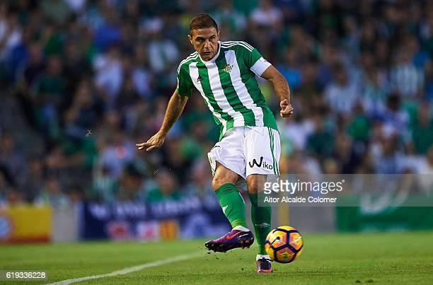 Joaquin Sanchez of Real Betis Balompie in action during the match between Real Betis Balompie vs RCD Espanyol as part of La Liga at Benito Villamarin...