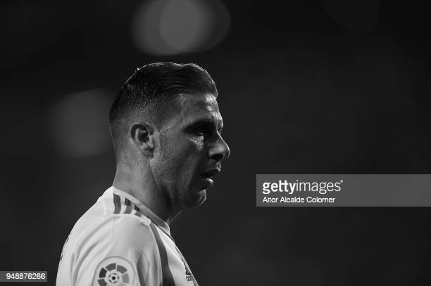 Joaquin Sanchez of Real Betis Balompie looks on during the La Liga match between Real Betis and Las Palmas at Estadio Benito Villamarin on April 19...
