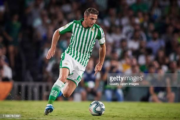 Joaquin Sanchez of Real Betis in action during a pre season friendly match between Real Betis and Las Palmas at Estadio Benito Villamarin on August...