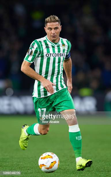 Joaquin Sanchez of Real Betis in action during the UEFA Europa League Group F match between Real Betis and AC Milan at Estadio Benito Villamarin on...