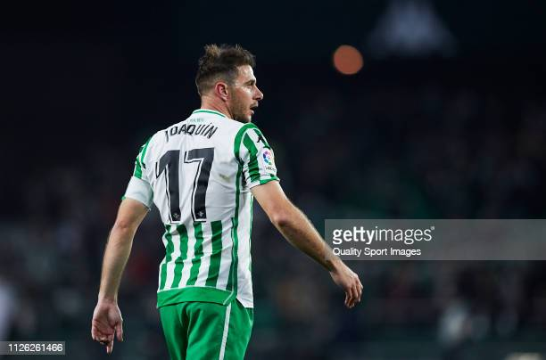 Joaquin Sanchez of Real Betis looks on during the Copa del Rey Quarter Final match between Real Betis and RCD Espanyol at Estadio Benito Villamarin...