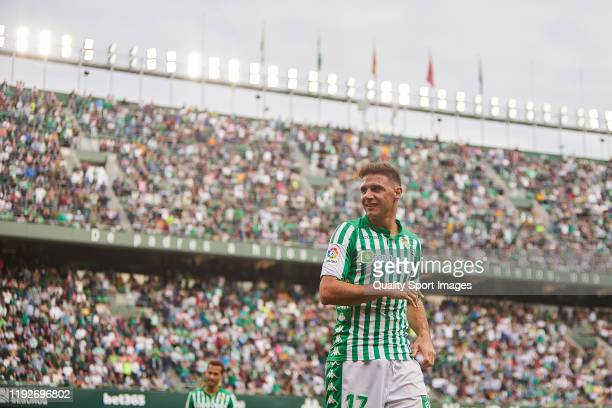 Joaquin Sanchez of Real Betis looks on during the Liga match between Real Betis Balompie and Athletic Club at Estadio Benito Villamarin on December...