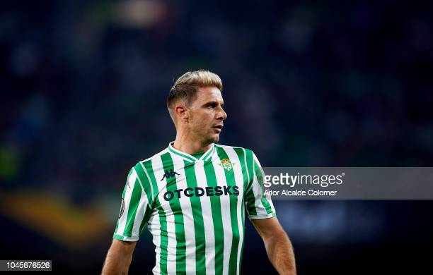 Joaquin Sanchez of Real Betis reacts during the UEFA Europa League Group F match between Real Betis and F91 Dudelange at Estadio Benito Villamarin on...
