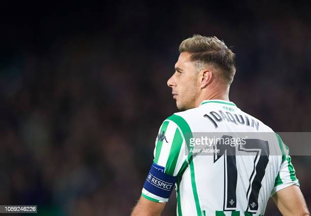 Joaquin Sanchez of Real Betis reacts during the UEFA Europa League Group F match between Real Betis and AC Milan at Estadio Benito Villamarin on...