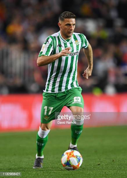 Joaquin Sanchez of Real Betis runs with the ball during the Copa del Semi Final match second leg between Valencia and Real Betis at Estadio Mestalla...