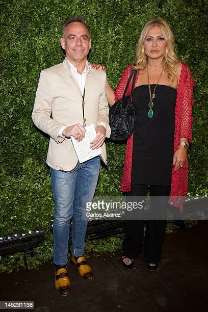 Joaquin Torres and Cristina Tarrega attend Michael Kors new store opening on May 24 2012 in Madrid Spain