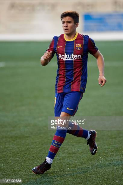 Joaquin Zeballos of FC Barcelona B runs during the Segunda Division B Group IIIA match between CE L'Hospitalet and FC Barcelona B at Estadi Municipal...