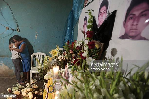 Joaquina Mora is seen during the vigil of her nephew Alexander Mora one of the 43 missing students whose remains were found in a landfill in Cocula...