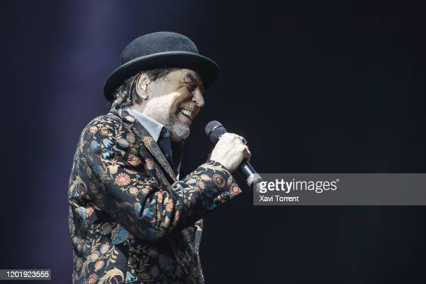 Joaquín Sabina performs in concert at Palau Sant Jordi on January 25 2020 in Barcelona Spain