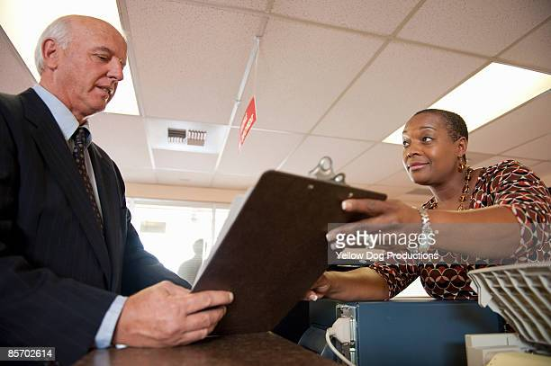 Job Applicant at Unemployment Office