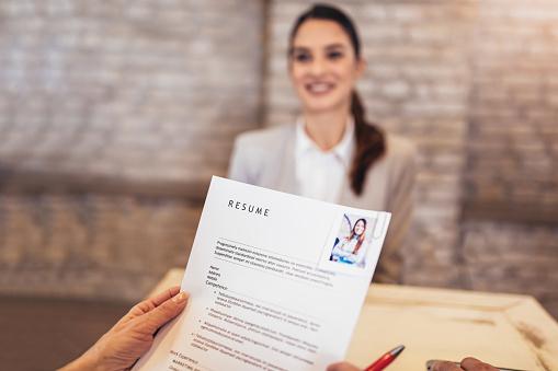 Job applicants having interview 1126402830