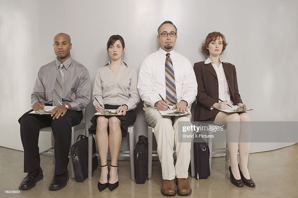 Job applicants waiting : Stock Photo