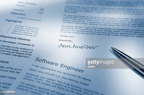 handwritten resume stock photos and pictures getty images