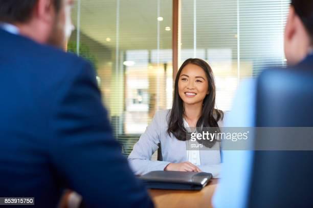 Bewerber im interview
