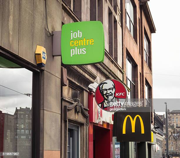 Job Centre Plus branch and fast food outlets