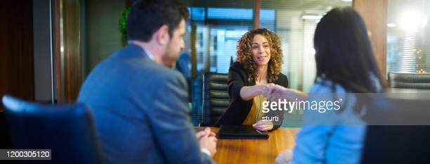 job interview - agreement stock pictures, royalty-free photos & images
