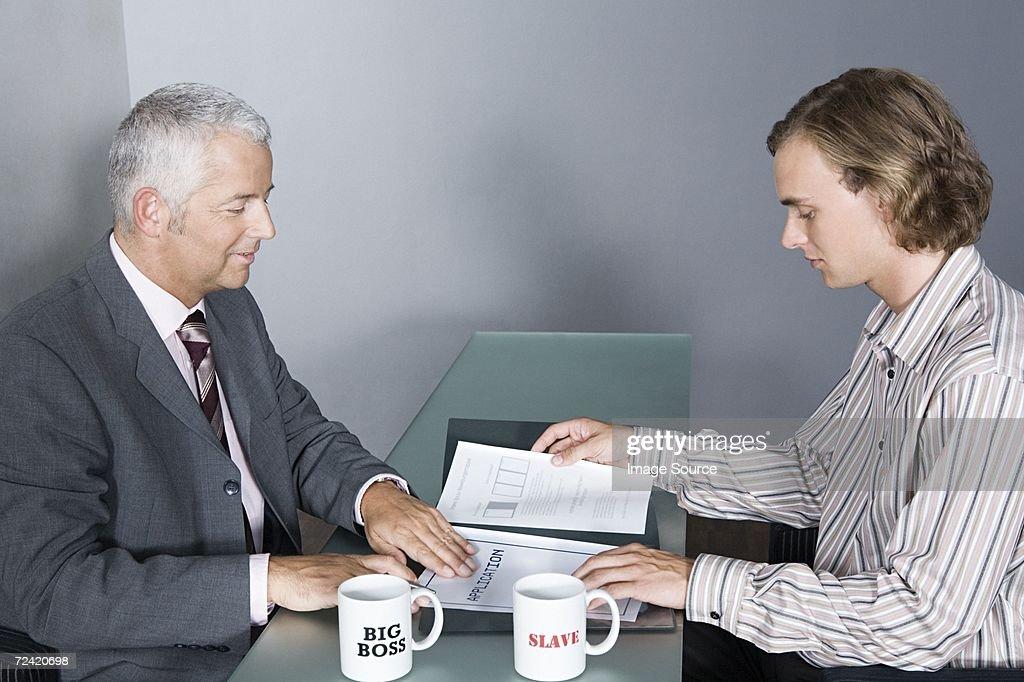 Job Bewerbungsgespräch : Stock-Foto