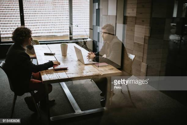 entrevista de trabalho - terceirização - fotografias e filmes do acervo