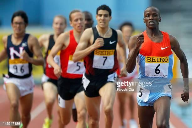 Job Kinyor of Kenya competes to win the Men's 800m during the Seiko Golden Grand Prix Kawasaki at Todoroki Stadium on May 6 2012 in Kawasaki Japan