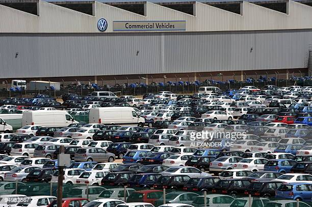 KHUMALO**Job losses take cheer out of Christmas for South Africans*** Recent picture showing hundreds of cars at the Volkswagen plant in Port...