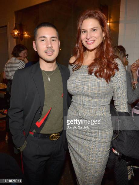 Job Piston and Ashley Brian attend Liz Goldwyn and MATCHESFASHIONCOM celebrate the launch of Frieze LA at Gracias Madre on February 13 2019 in West...