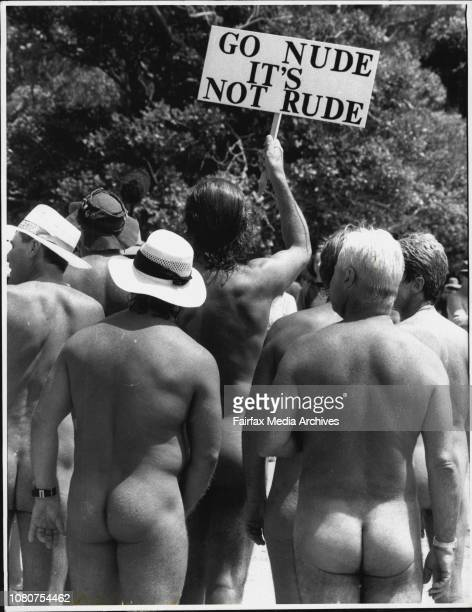 Reef Beach ProtestProtesting Nudists The Bare facts Nudists state their case at Reef BeachOutspoken state MP Richard Jones and 50 other people...