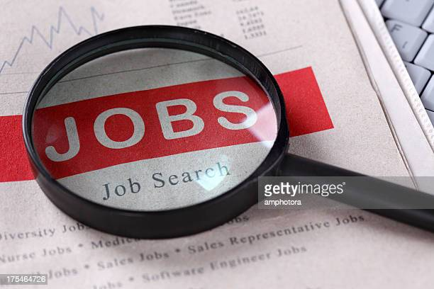 Job Search magnified by a huge lens