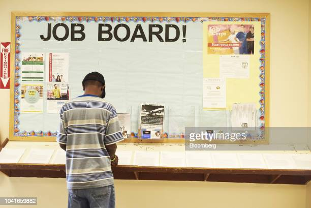 A job seeker fills out an application during a job recruitment event for Banker Steel Co in New Brunswick New Jersey US on Wednesday Sept 19 2018...