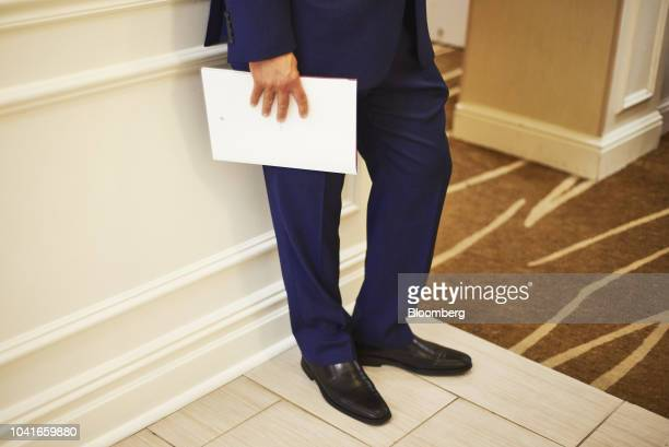 A job seeker holds a resume a during a National Career Fair event in Edison New Jersey US on Thursday Sept 20 2018 Filings for US unemployment...