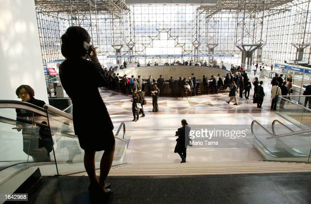 Job seekers attend the Asian Diversity Conference and Job Fair at the Jacob Javits Convention Center November 14, 2002 in New York City. Thousands...