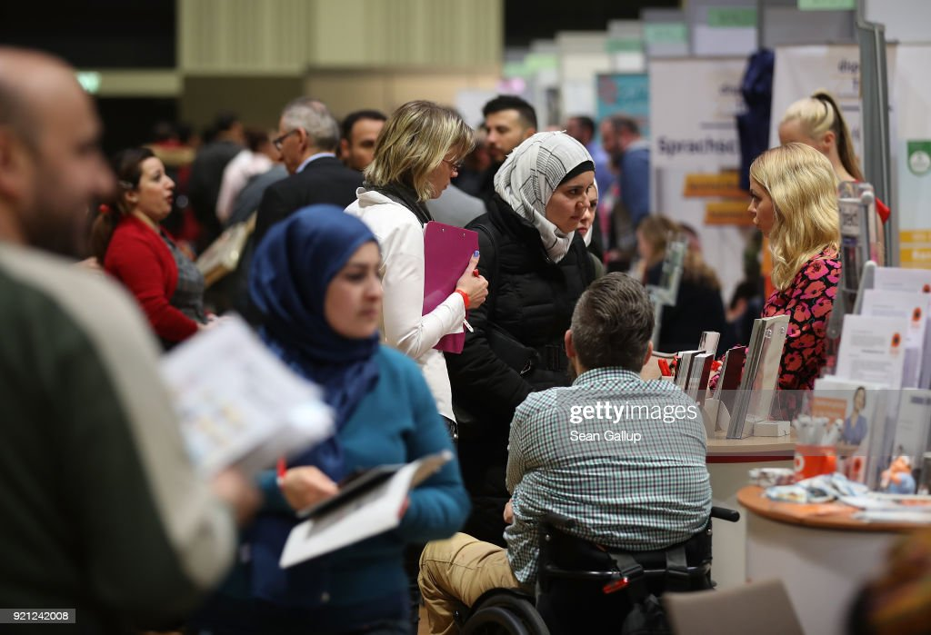 Berlin Holds Jobs Fair For Refugees And Migrants