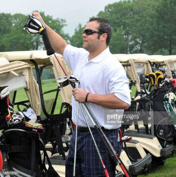 Joba Chamberlain attends the 2010 Yogi Berra Museum Golf Outing at the Montclair Golf Club on June 14 2010 in West Orange New Jersey