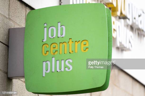 Jobcentre Plus sign on March 17, 2020 in Cardiff, United Kingdom.