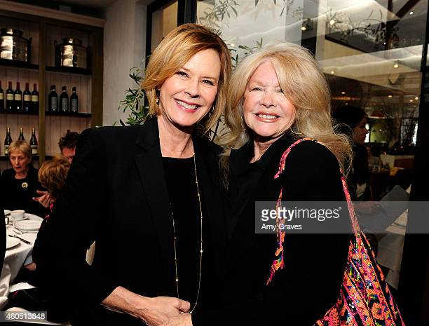 JoBeth Williams and Connie Stevens attend a special luncheon for Kevin Costner and Mike Binder hosted by Colleen Camp for the film BLACK OR WHITE at...