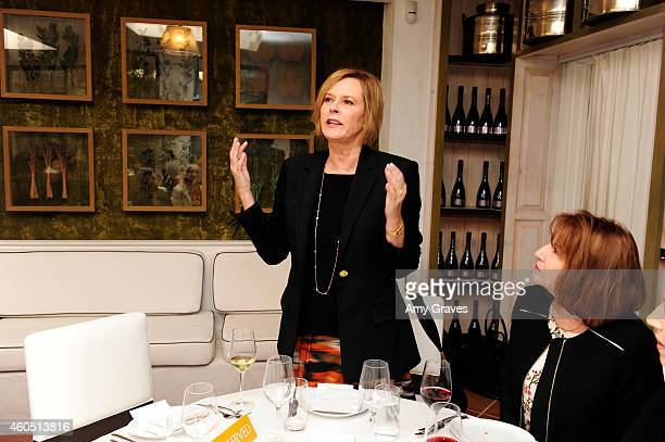 JoBeth Williams attends a special luncheon for Kevin Costner and Mike Binder hosted by Colleen Camp for the film BLACK OR WHITE at Fig Olive Melrose...