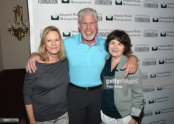 JoBeth Williams Ron Perlman and Jill Seltzer attends the Screen Actors Guild Foundation Inaugural New York Golf Classic at Trump National Golf Club...