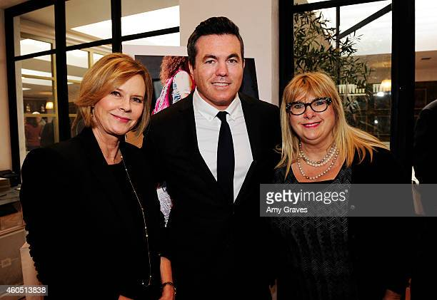 JoBeth Williams Tucker Tooley and Colleen Camp attend a special luncheon for Kevin Costner and Mike Binder hosted by Colleen Camp for the film BLACK...
