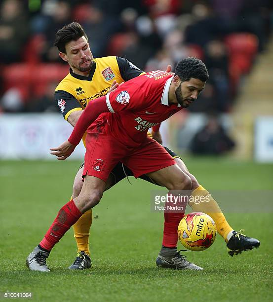 Jobi McAnuff of Leyton Orient attempts to control the ball under pressure from Danny Rose of Northampton Town during the Sky Bet League Two match...