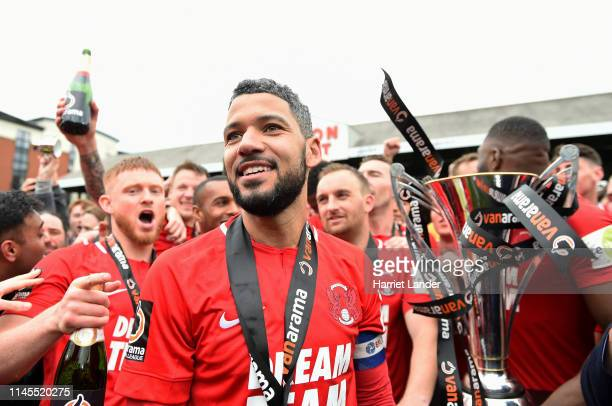 Jobi McAnuff of Leyton Orient looks on after the Vanarama National League match between Leyton Orient and Braintree Town at Brisbane Road on April 27...